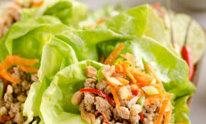 Turkey Thai Peanut Lettuce Wraps – Healthy Recipes Ground Turkey