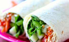 Turkey Veggie Hummus Wrap – Vegetarian Wraps And Rolls Recipes