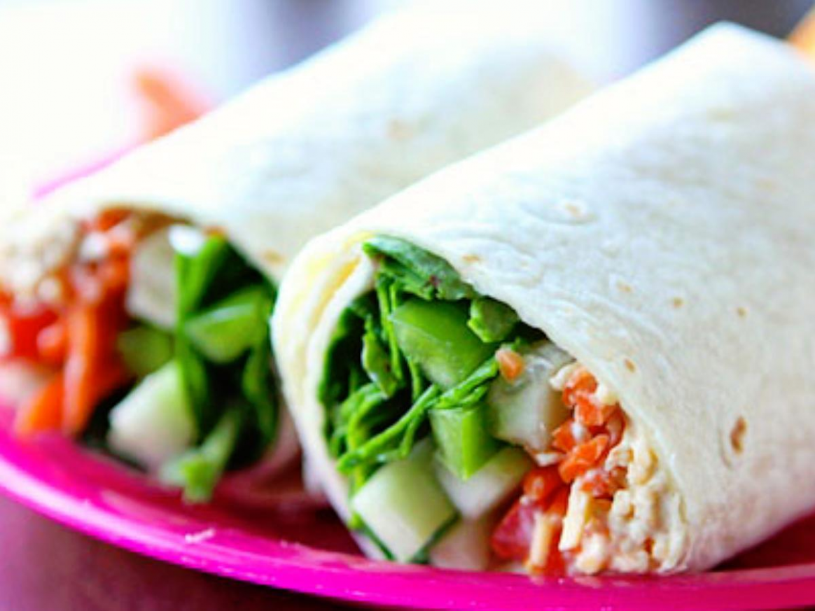 Turkey Veggie Hummus Wrap - vegetarian wraps and rolls recipes
