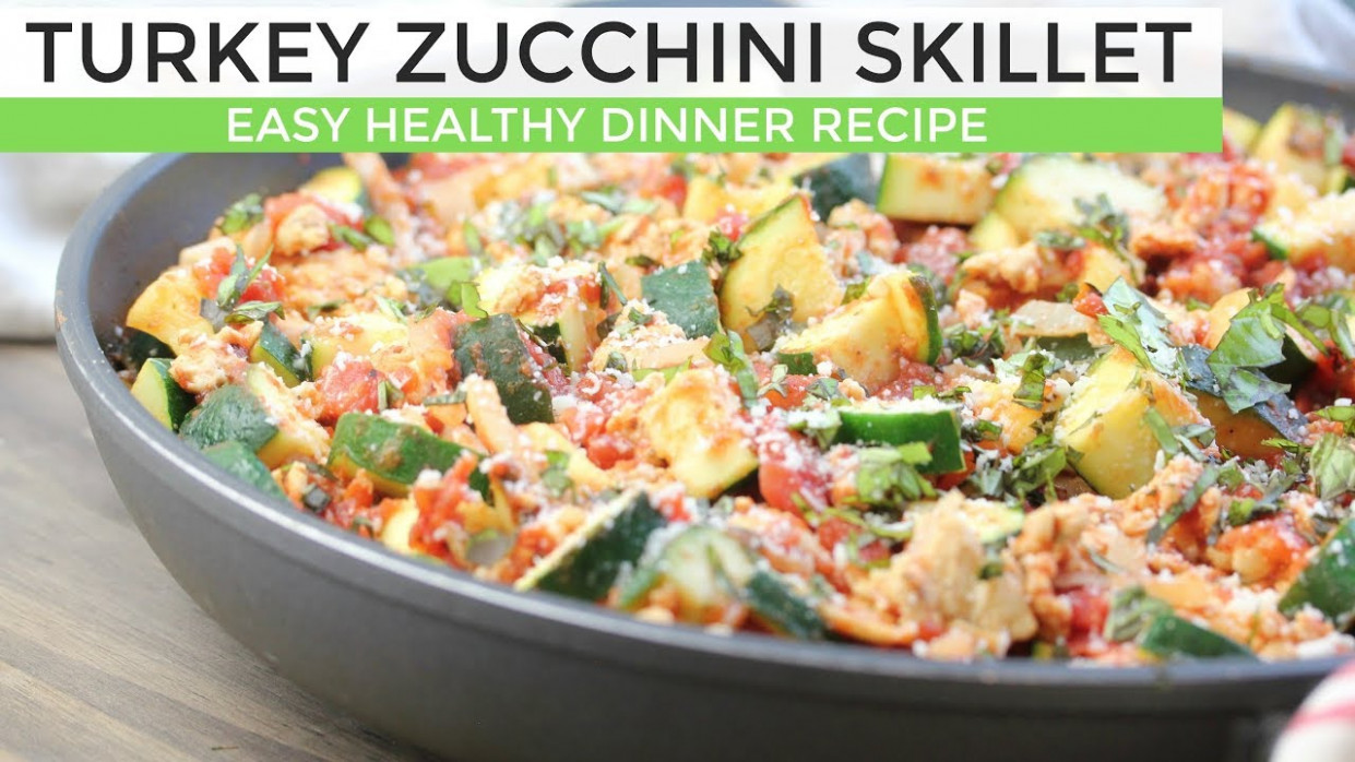 Turkey Zucchini Skillet | Easy Low Carb Dinner Idea - dinner recipes to lower cholesterol