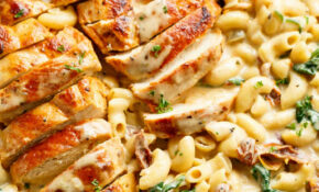 Tuscan Chicken Mac And Cheese (ONE POT, STOVE TOP) – One Pot Pasta Recipes Chicken