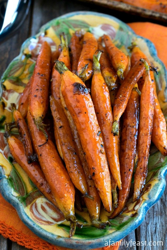 Tuscan Style Roasted Carrots - A Family Feast® - Italian Recipes Vegetarian