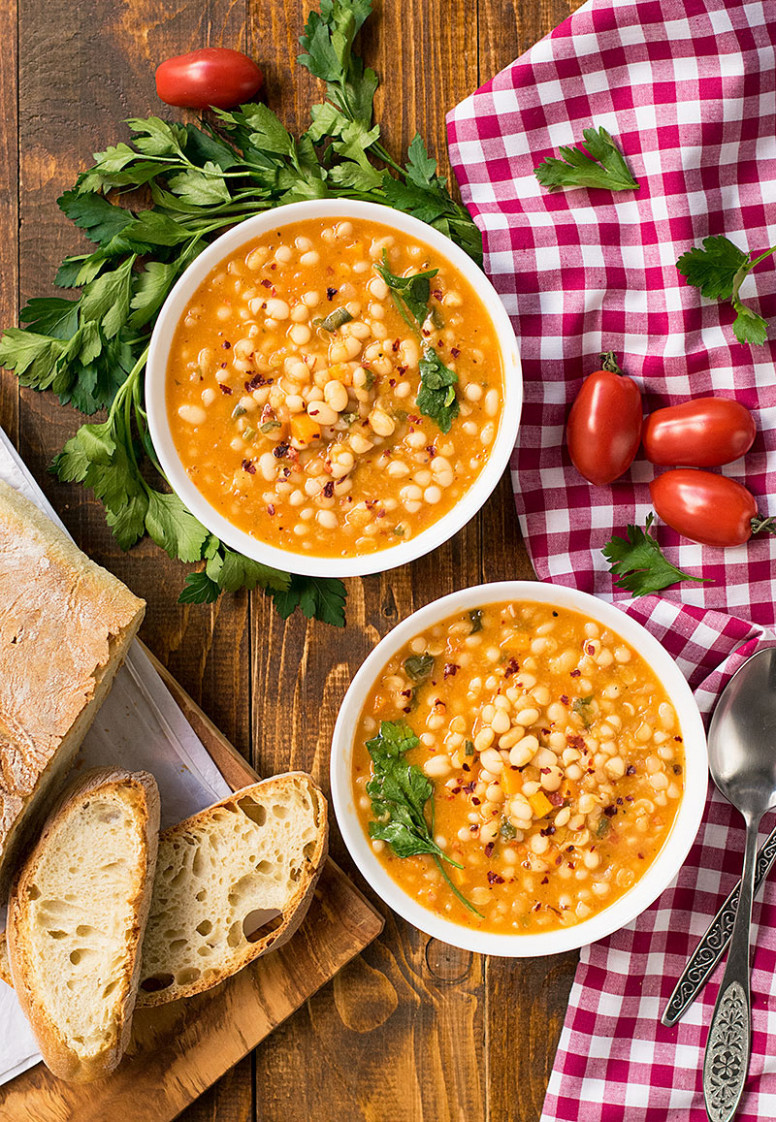Tuscan Style White Beans - healthy recipes plant based