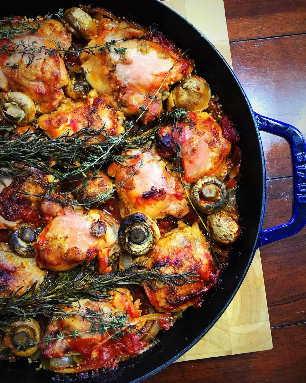 Tuscan Tomato Chicken Skillet With Rosemary And Thyme - chicken recipes dutch oven