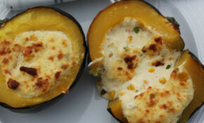 Twice Baked Acorn Squash Stuffed with Cheese and Corn • A ...
