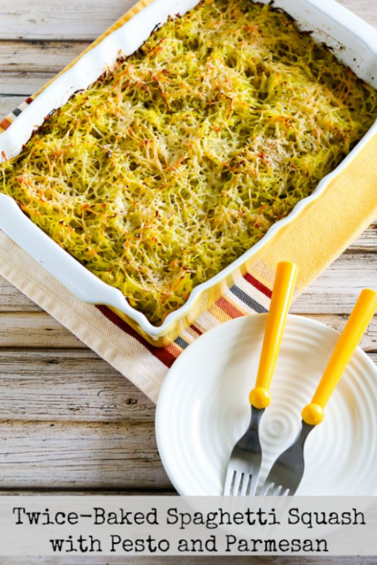 Twice-Baked Spaghetti Squash with Pesto and Parmesan ..