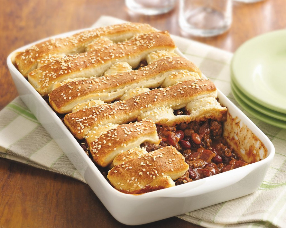 Two-Bean Burger Casserole Recipe - food recipes ground beef