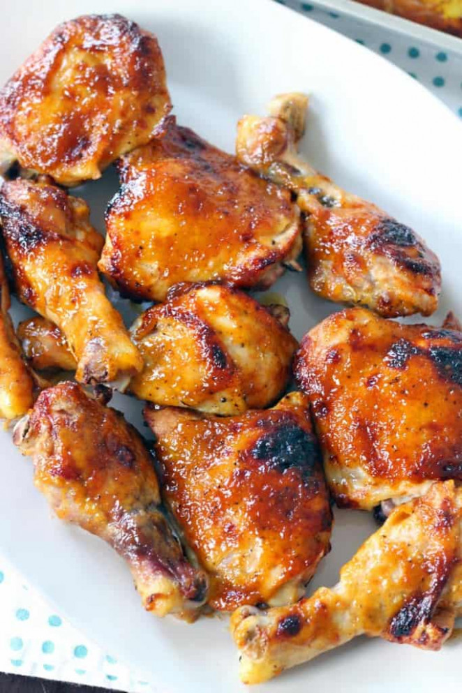 Two Ingredient Crispy Oven Baked BBQ Chicken - Chicken Recipes Easy Oven