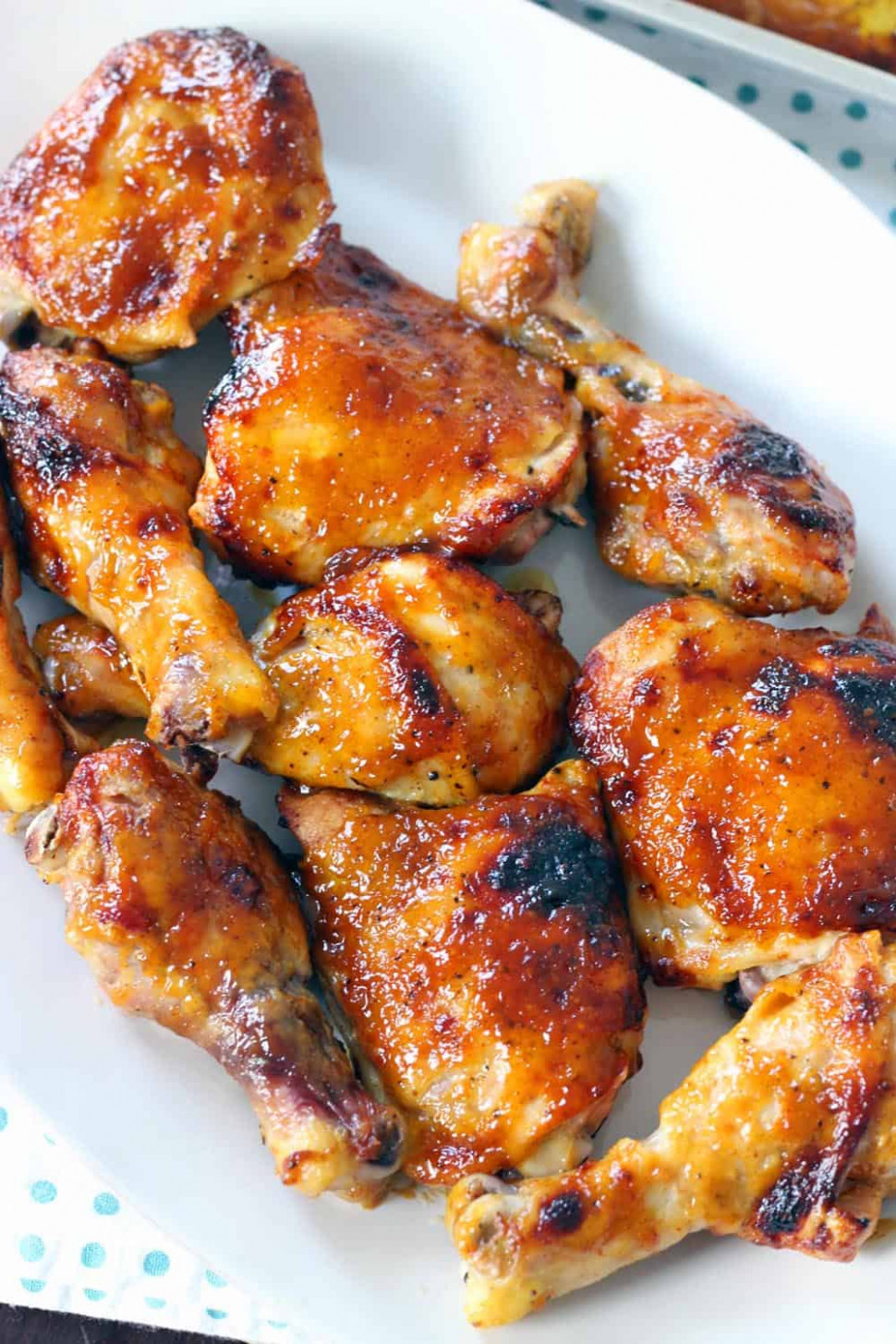 Two Ingredient Crispy Oven Baked BBQ Chicken - chicken recipes roasted