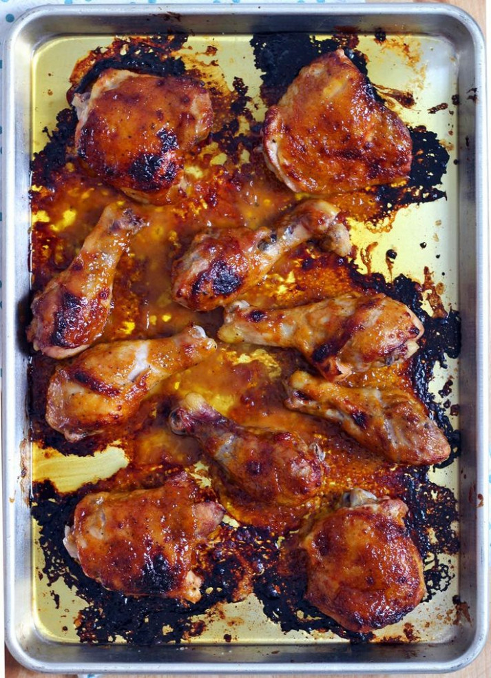 Two Ingredient Crispy Oven Baked BBQ Chicken | Recipe ..