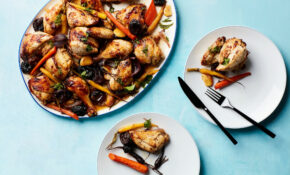 """Tzimmes"" Chicken With Apricots, Prunes, And Carrots – Chicken Recipes Kosher"