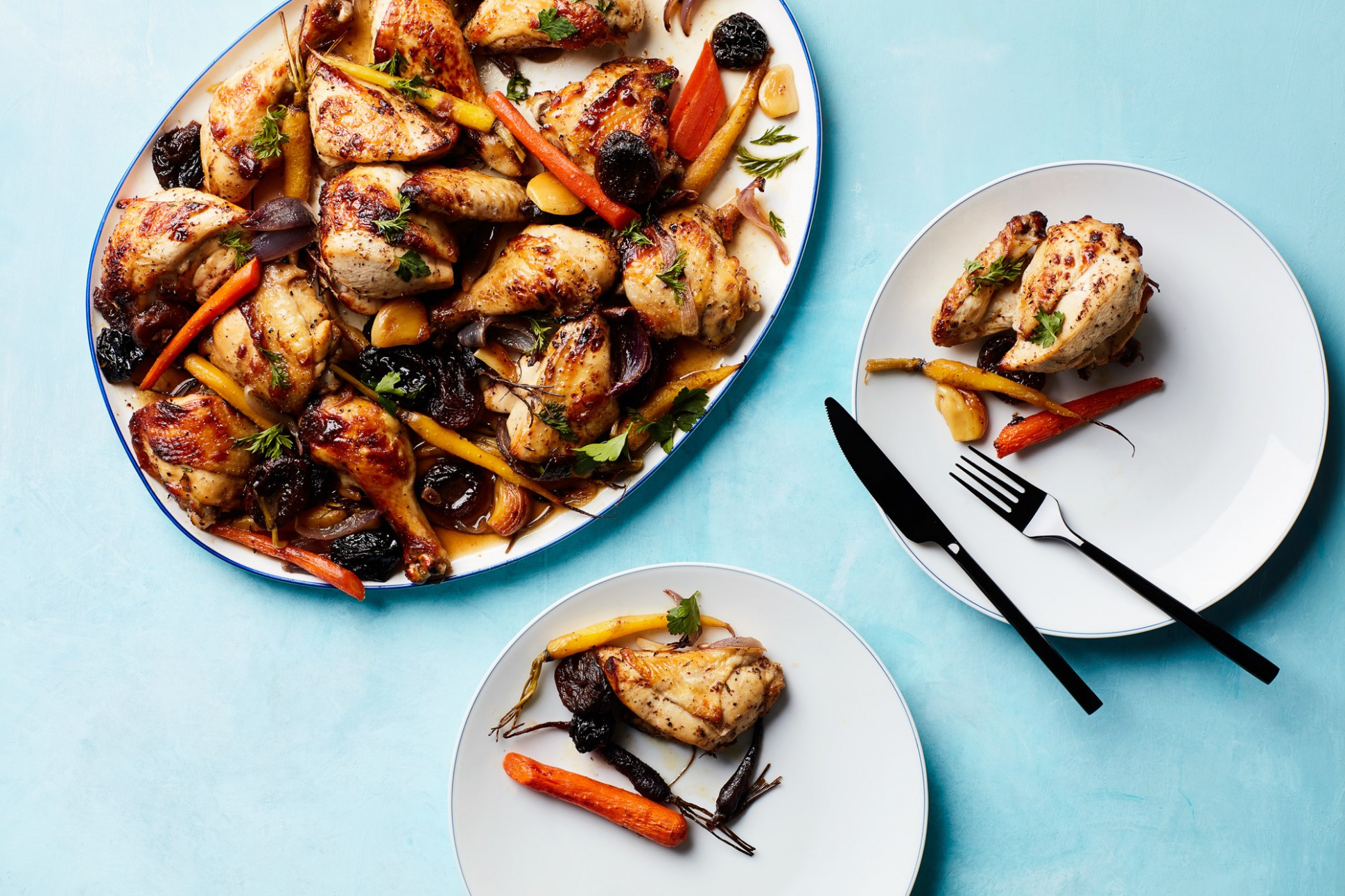 """Tzimmes"" Chicken with Apricots, Prunes, and Carrots - chicken recipes kosher"