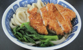 Udon Noodles, Broth And Panko Crusted Chicken | Cooking ..