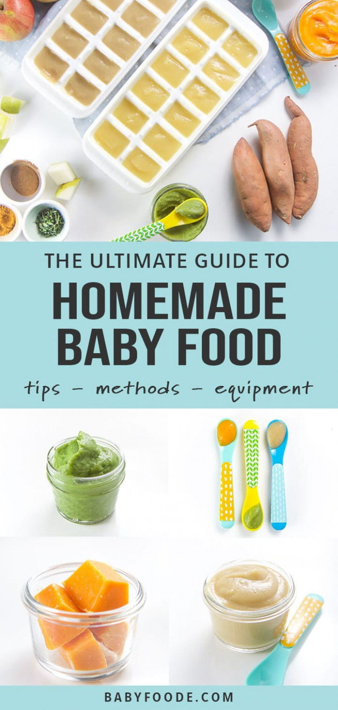 Ultimate Guide On How To Make Homemade Baby Food - Baby Foode - Recipes Of Baby Food