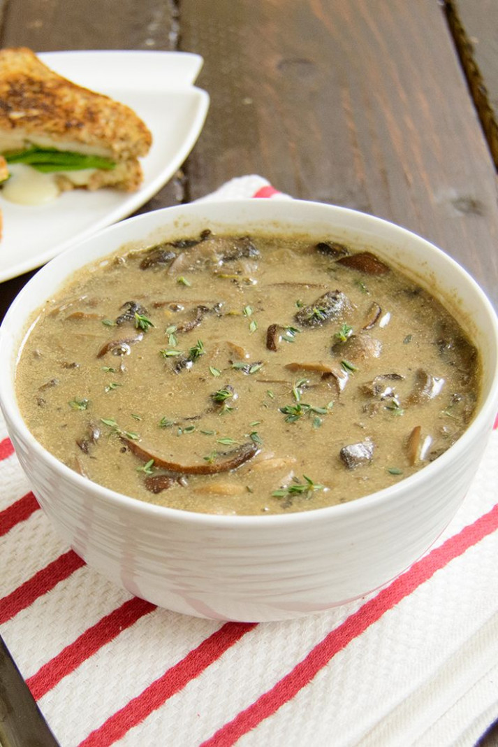 Ultimate Mushroom Soup - seriously the best soup ever ..