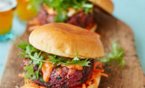 Ultimate veggie burger with pickled carrot slaw recipe ...