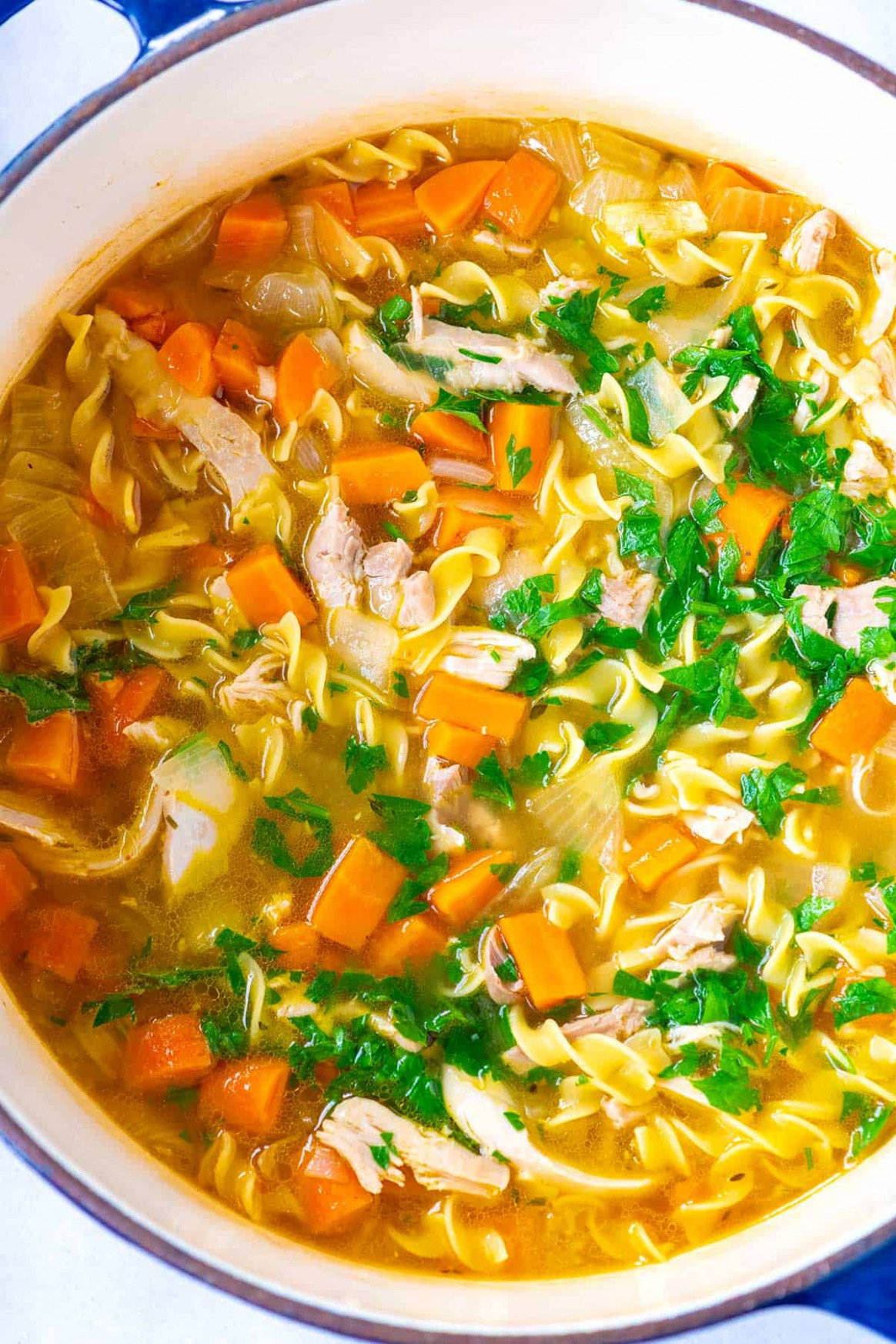 Ultra-Satisfying Homemade Chicken Noodle Soup - healthy dinner recipes chicken