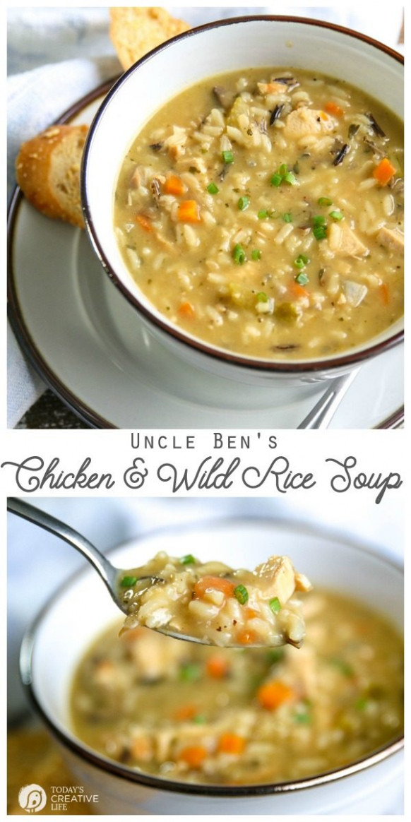 Uncle Ben's Chicken and Wild Rice Soup | Today's Creative Life - uncle ben rice recipes chicken