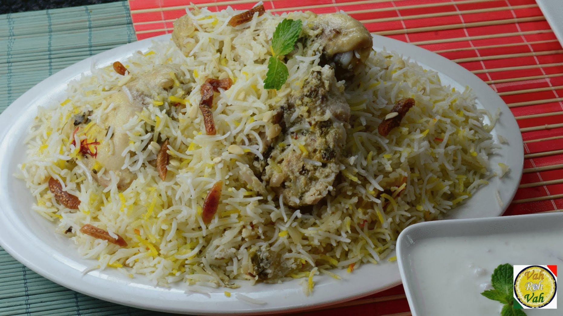 VahChef Special White Chicken Biryani - By VahChef ..