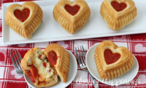 Valentine's Day Dinner – Calzone Hearts – Hungry Happenings – Recipes Valentine's Day Dinner