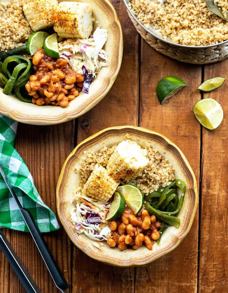 Vegan BBQ Bean Bowls - recipes grill vegetarian