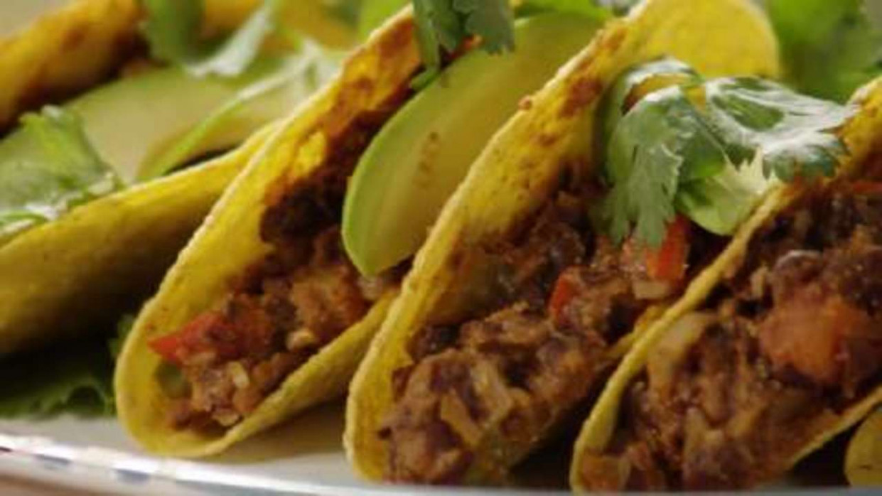 Vegan Bean Taco Filling - recipe vegetarian tacos filling