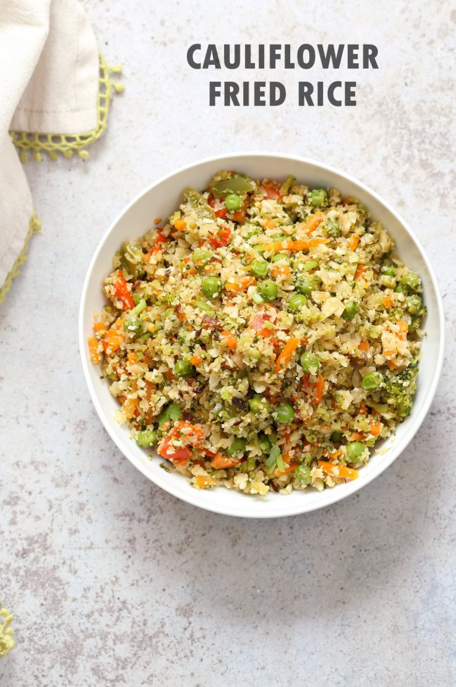 Vegan Cauliflower Fried Rice - 11 Pot - One Pot Rice Recipes Vegetarian Indian