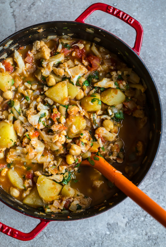 Vegan Cauliflower, Potato, And Chickpea Curry - A ..