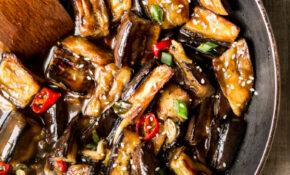 Vegan Chinese aubergine - Lazy Cat Kitchen