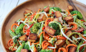 Vegan Chow Mein with Gluten Free Zucchini Noodles & Marinated Tofu