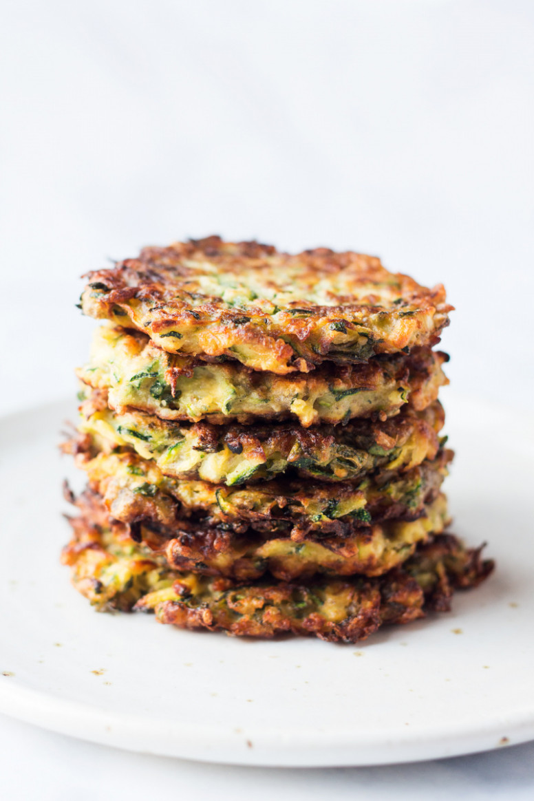 Vegan Courgette Fritters - Vegetable Recipes Zucchini