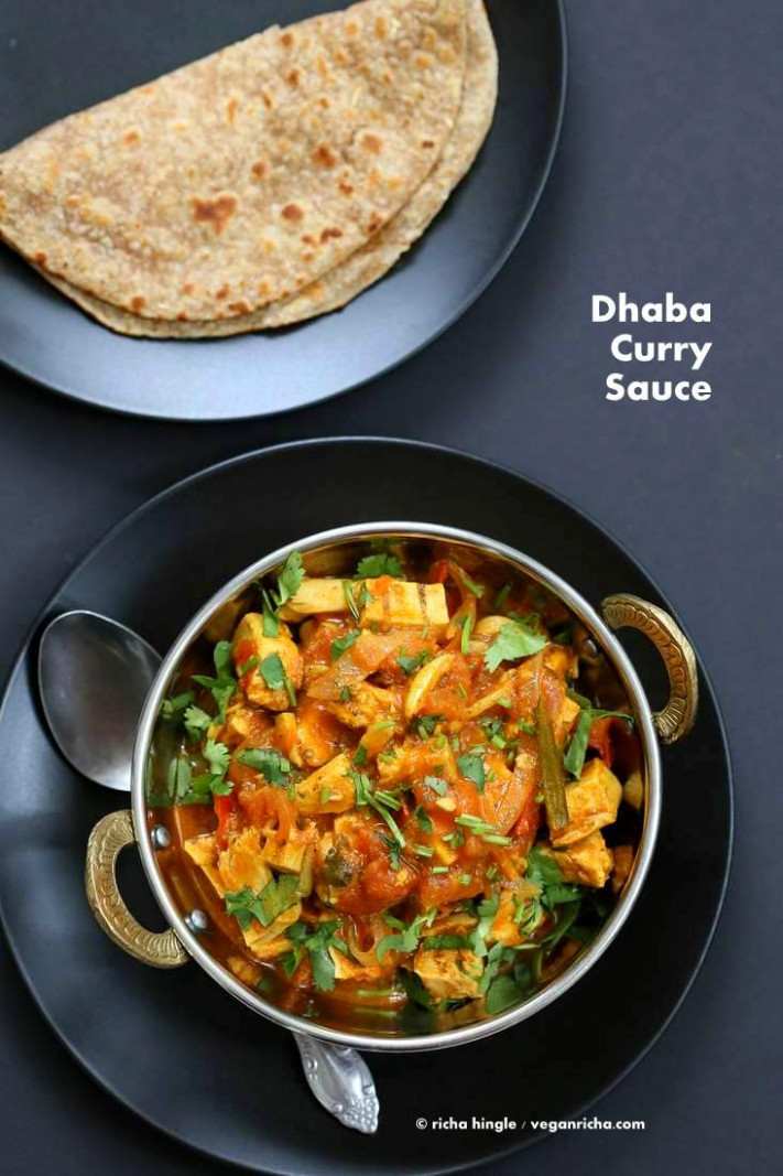 Vegan Dhaba Chicken-free Chickn - Beyond Meat Dhaba curry - vegetarian recipes indian dinner