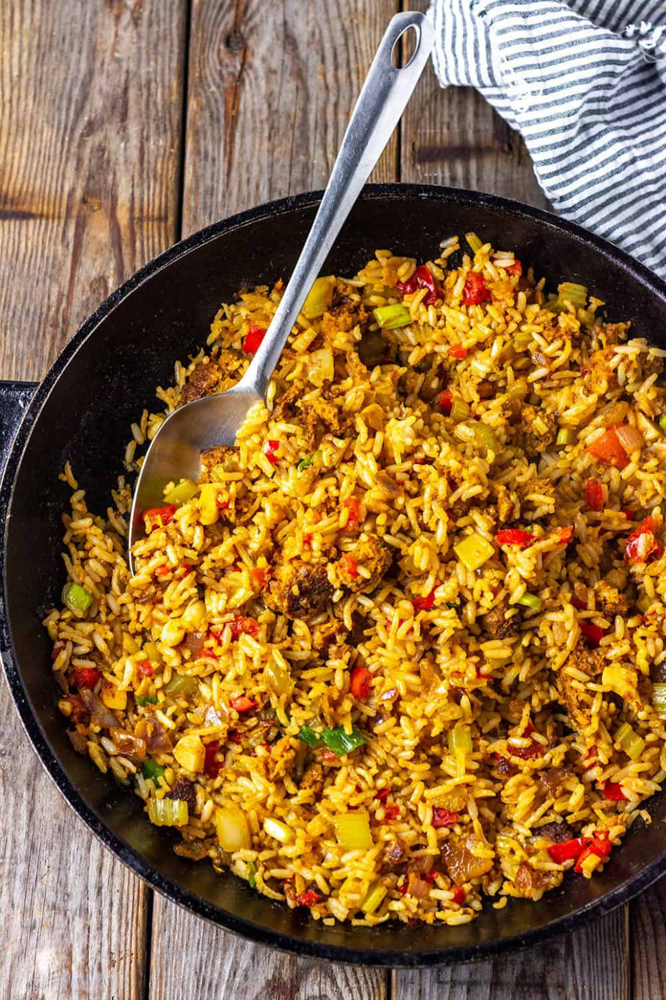 Vegan Dirty Rice - Rice Recipes Vegetarian