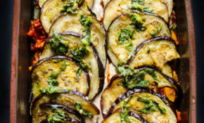 Vegan Eggplant Parmesan Bake – Layers Of Happiness – Recipe Vegetarian Eggplant