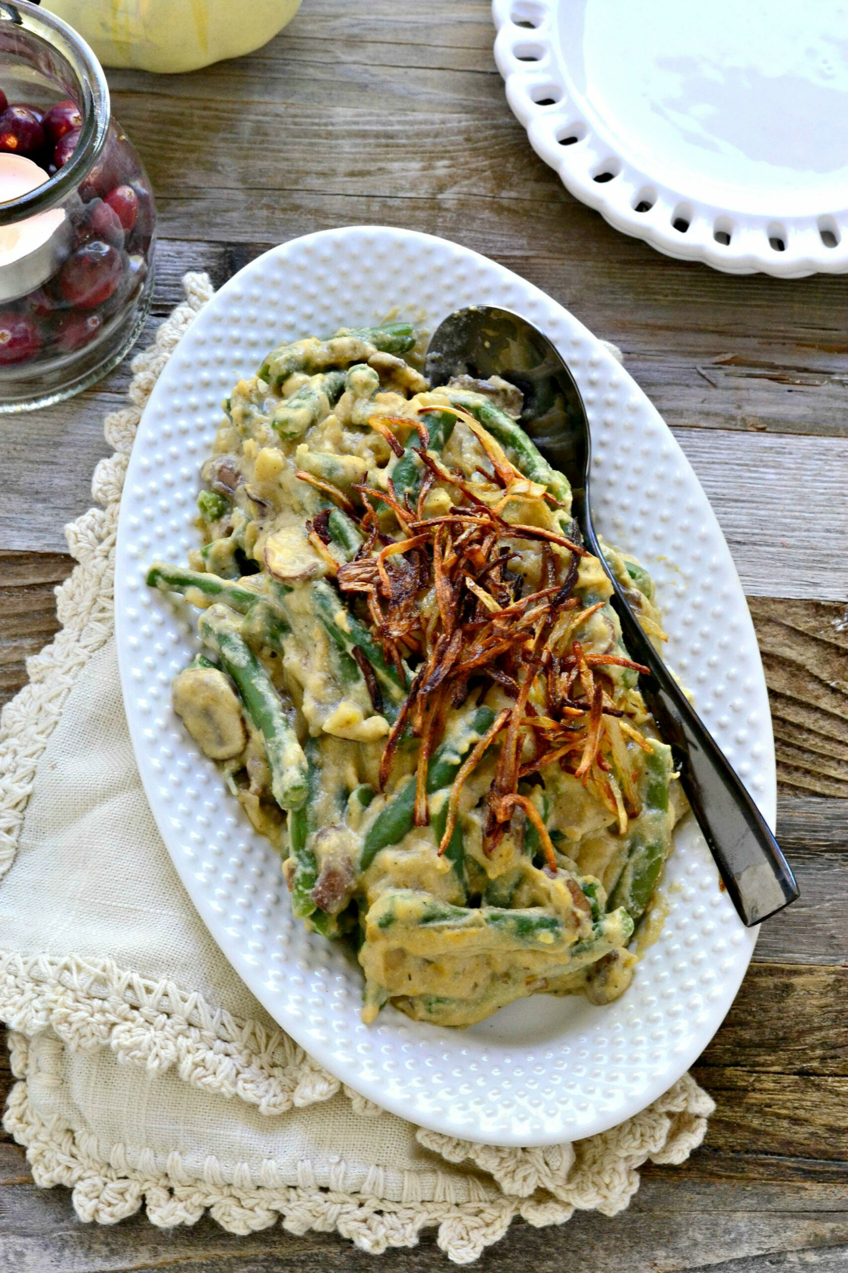 Vegan Green Bean Casserole - Recipes Green Bean Casserole Healthy