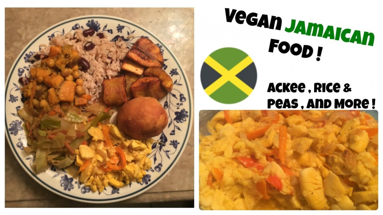 Vegan Jamaican Food | Rice & Peas , Ackee & Dumplings and More ! - recipes jamaican food