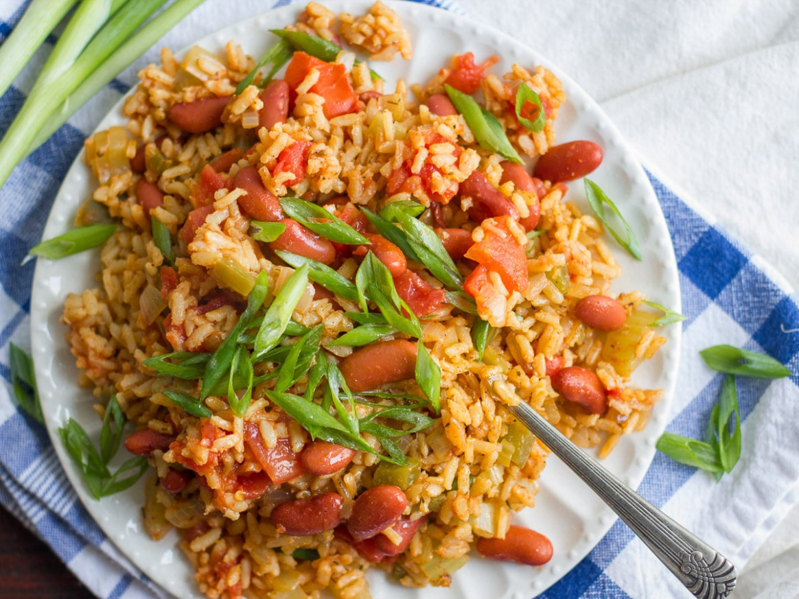 Vegan Jambalaya (Slow Cooker or Stove Top!) - vegetarian recipes jamaican