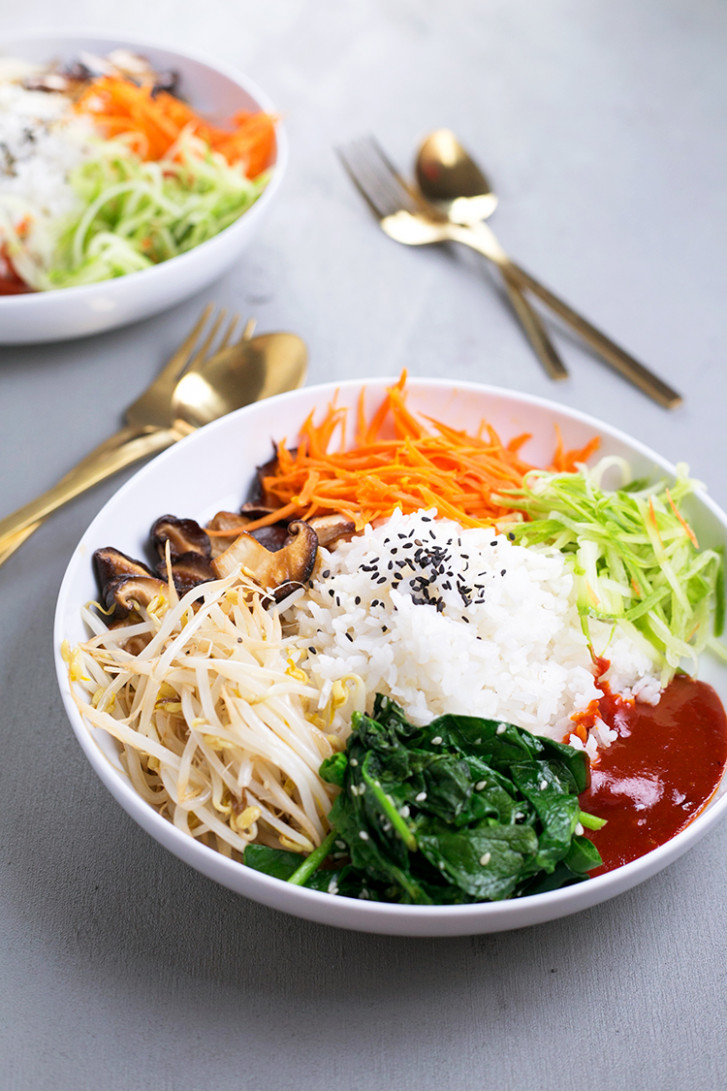 Vegan Korean Bibimbap - Recipes Korean Food