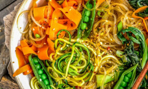 Vegan Korean Glass Noodles (Jap Chae)