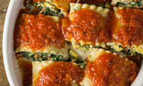 Vegan Lasagna Rolls (Oil Free)  Veggie Chick Recipes – Recipes For Vegetarian Lasagna