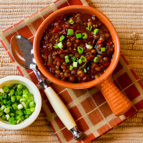 Vegan Lentil Chili with Roasted Red Peppers, Olives, and ..