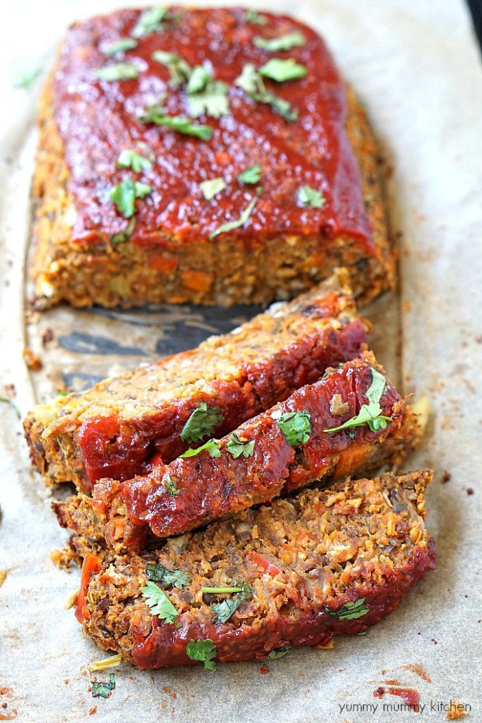 Vegan Lentil Loaf - recipe vegetarian meatloaf