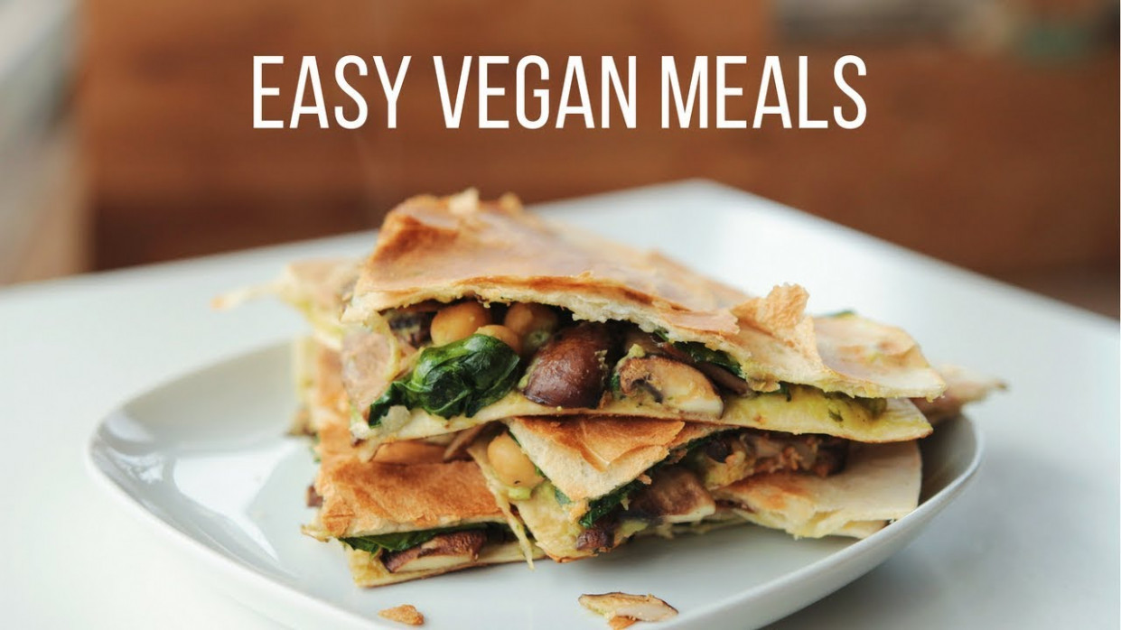 Vegan Meal Ideas For The New Year! Healthy + Easy - New Recipes Dinner
