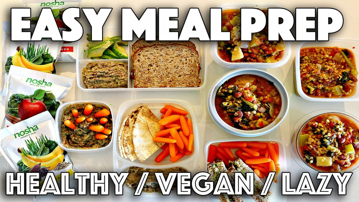 VEGAN MEAL PREP FOR LAZY PEOPLE // HEALTHY RECIPES - Vegan And Healthy Recipes
