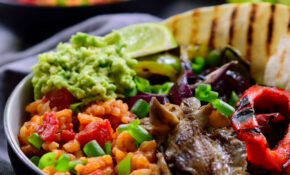 Vegan Mexican Rice Fajita Bowl | The Stingy Vegan – Recipes Vegetarian Mexican Food