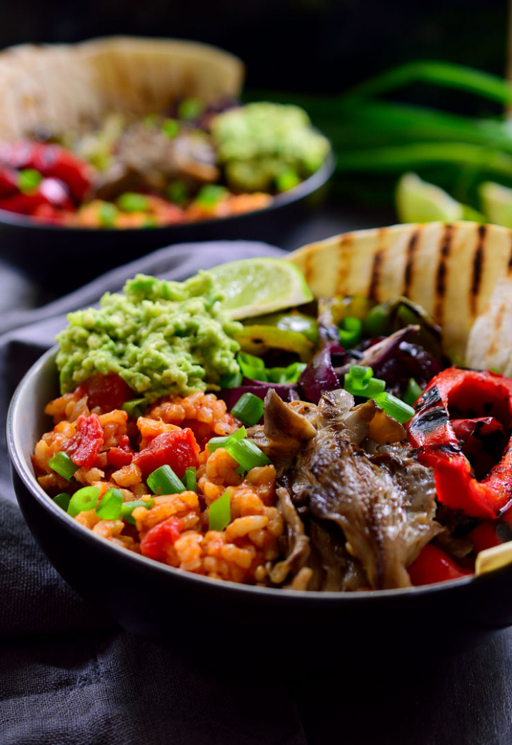 Vegan Mexican Rice Fajita Bowl | The Stingy Vegan - recipes vegetarian mexican food