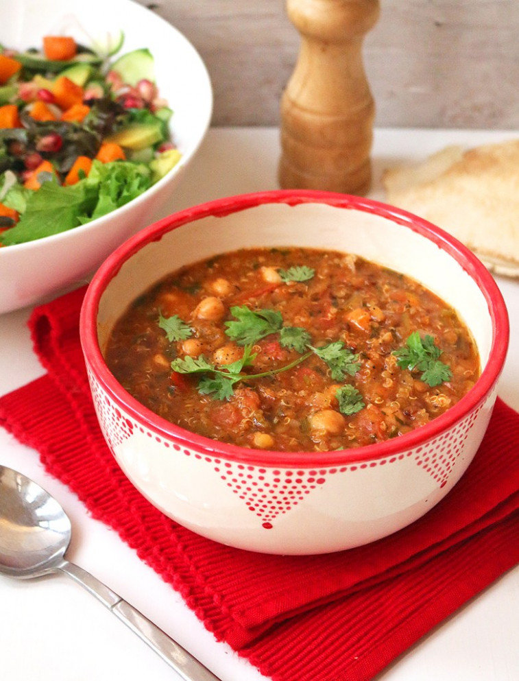 Vegan Moroccan Harira Soup - middle eastern vegetarian recipes