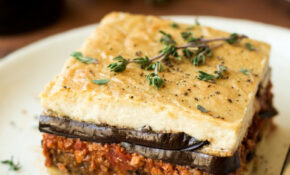 Vegan Moussaka With Creamy Bechamel – Lazy Cat Kitchen – Greek Recipes Vegetarian