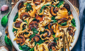 Vegan Mushroom Pasta With Spinach (easy Recipe) – Dinner Recipes Without Dairy