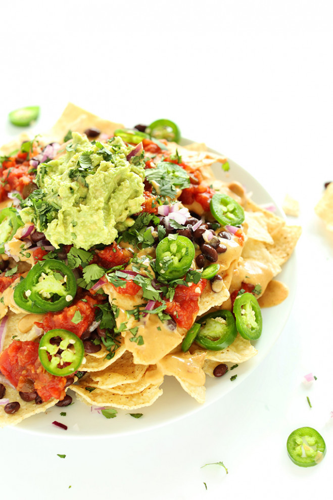 Vegan Nachos with Queso | Minimalist Baker Recipes - recipe vegetarian nachos